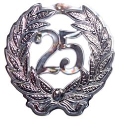 Walldeco 3D Zilver Jubileum 25