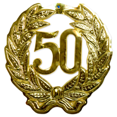Walldeco 3D Goud Jubileum 50