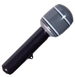 Opblaasbare Microfoon Zwart