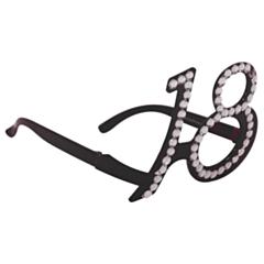 Bril 18 jaar Zwart Diamantframe