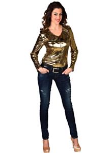 Folie blouse goud