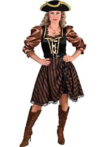 Piraat dame bruin/zwart