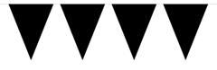 Vlaggenlijn Effen  Zwart 10mtr