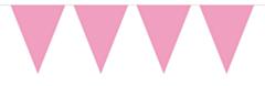 Vlaggenlijn Effen Baby Roze 10mtr