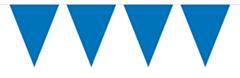 Vlaggenlijn Effen Blauw 10mtr