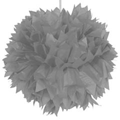 Pompom Zilver 30cm