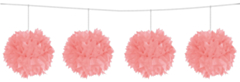Pompom slinger Roze 3mtr