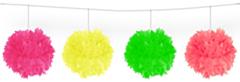 Pompom slinger Ass. neon 12cm /3mtr