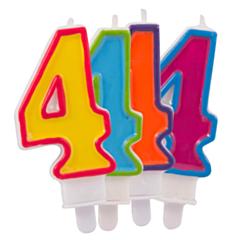 Nummer Kaars Frisse kleuren 4
