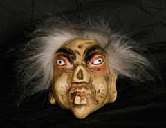 Muur decoratie trol met wit haar