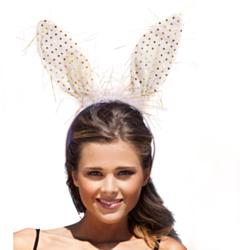 Tiara Bunny Wit met goud tinsels