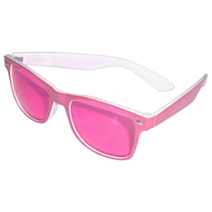 Bril Blues Brothers roze/wit