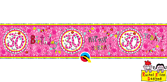 Age 30 Perfect Pink Banner 2.6mtr
