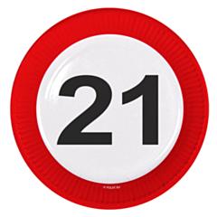 Bord Verkeersbord 21 23cm