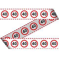Markeerlint Verkeersbord 40 15mtr
