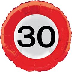 Folieballon Verkeersbord 30