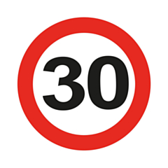 LED Party Badge Traffic Sign 30