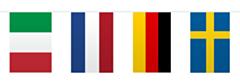 Vlaggenlijn Europa Vierkant 10mtr