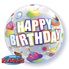 Bubble Ballon HBday cupcake