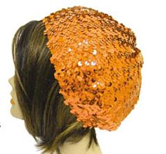 Baret Pailletten Oranje