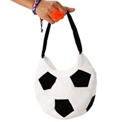 Handtas Voetbal Pluche Zwart/Wit