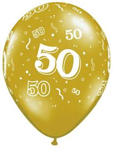 Ballon 50 jaar Gold