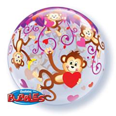 Bubble Ballon Monkeys heart