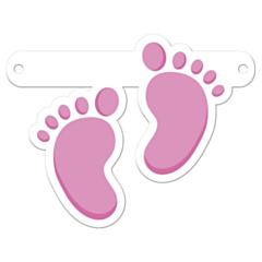 Banner Letter Feet Pink