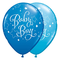 Ballon Baby Boy DBlue & Light Blu
