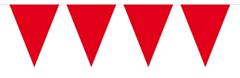 Mini Vlaggenlijn Rood 3mtr