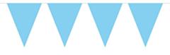 Mini Vlaggenlijn Baby Blauw 3mtr