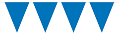 Mini Vlaggenlijn Blauw 3mtr