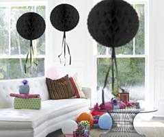 Honeycomb bal Zwart 30cm