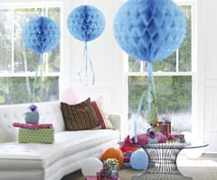 Honeycomb bal Baby Blauw 30cm
