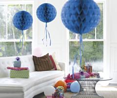 Honeycomb bal Blauw 30cm