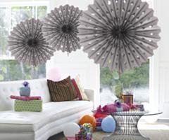 Honeycomb fan Silver 45cm