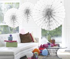 Honeycomb fan Wit 45cm