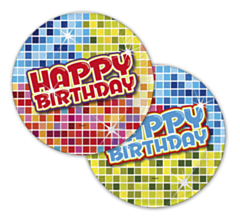 Bord Birthday Blocks 18cm