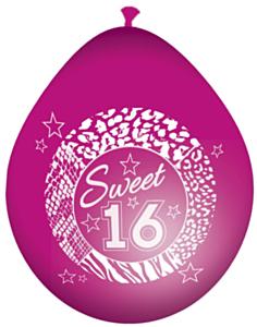Ballonnen 30cm Sweet 16