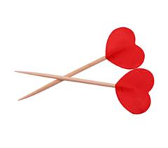 Prikkers Rode Hartjes 6.5cm