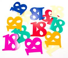 Tafelconfetti  XL 18 jaar
