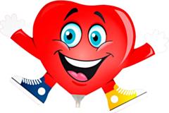 Mini Folieballon Heart with arms and feet