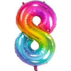 Folieballon Yummy Gummy Rainbow Cijfer 8