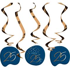 Hangdecoratie Elegant True Blue 25 Jaar
