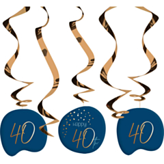 Hangdecoratie Elegant True Blue 40 Jaar
