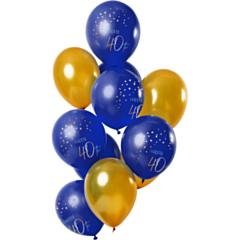 Ballonnen Elegant True Blue 40 Jaar