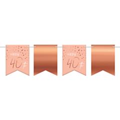 Vlaggenlijn Elegant Lush Blush 40 Jaar