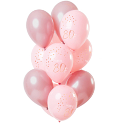Ballonnen Elegant Lush Blush 80 Jaar