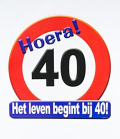 Huldeschild - 40 jaar