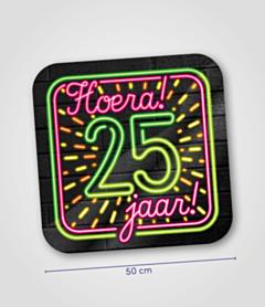 Neon huldeschild 25 jaar